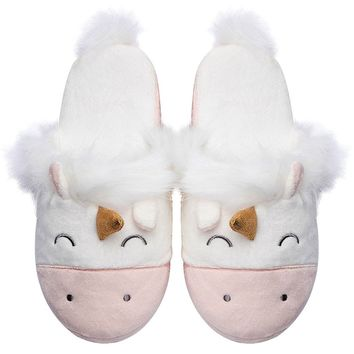 Caramella Bubble Unicorn Animal Slippers | Indoor Outdoor Home Slippers | Cozy Plush Family Shoes | Cute Fluffy Slippers For Kids,Teen,Adult