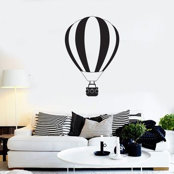 Vinyl Decal Wall Sticker Air balloon Travel Romantic Cute Decor Room Unique Gift (g018)