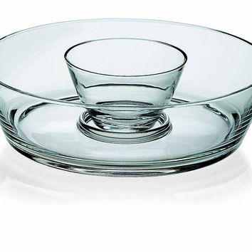 "Majestic Gifts E60506 Quality Glass Chip & Dip Bowl, 11""D"
