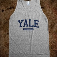 Dropping The Y-Bomb-Unisex Athletic Blue T-Shirt
