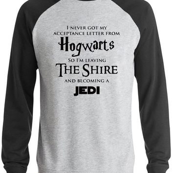 AW Fashion's Hogwarts hoodies men raglan sleeve Star Wars Jedi Inspired Funny Slogan Premium Men's sweatshirt man