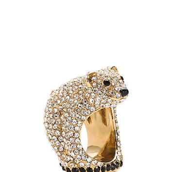 Kate Spade Cold Comforts Polar Bear Ring Clear