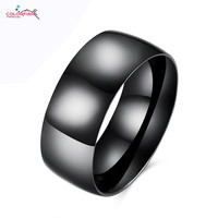 Black Gold Ring Men High Polished Stainless Steel Ring For Men And Women Jewelry Black Gun Plated Ring Matte Finish Wedding Band