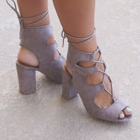 Mini Bar Taupe Caged Sandals