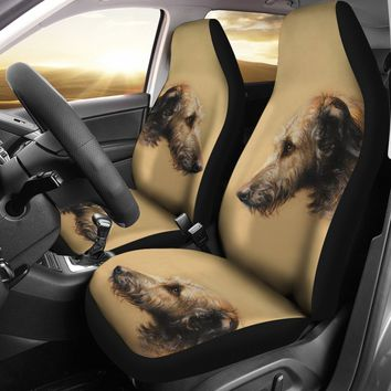 Irish Wolfhound Print Car Seat Covers- Free Shipping