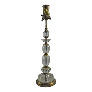 Vintage Crystal Bead Stacked Table Lamp