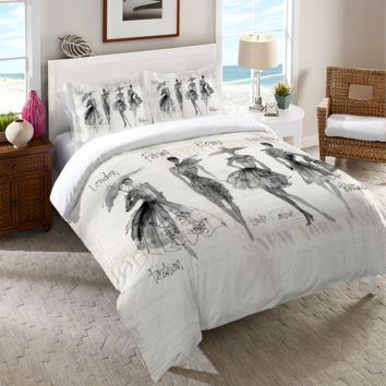 Fashion Sketchbook Duvet Cover