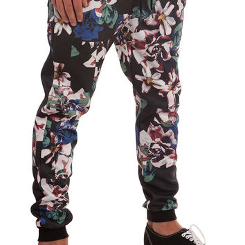 Checkered Floral Jogger Sweatpant