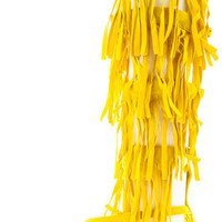 MONICA3 YELLOW FRINGE GLADIATOR BOOT