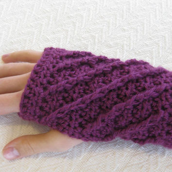 Crochet PATTERN Fingerless Gloves - Spirals