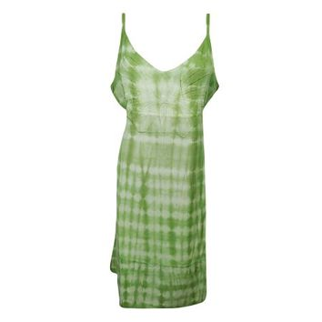 Mogul Womens Tie Dye Summer Dress Butterfly Embroidered Strappy Boho Chic Rayon Comfy Sundress - Walmart.com