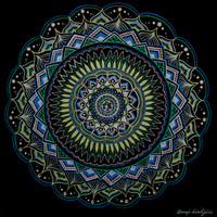 Blue and Green Mandala