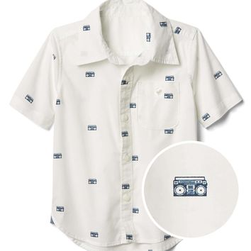 Boombox short sleeve shirt | Gap