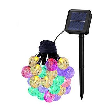 Solar String Lights, Waterproof outdoor Globe Lights,8 Modes Fairy Orb Crystal Ball Lighting for Christmas Trees, Garden, Patio, Wedding(20ft-8 Modes)