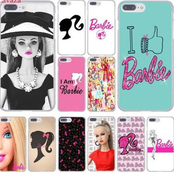 barbie doll face for girl Hard Phone Cover Case for iphone 5 6 7 8 X