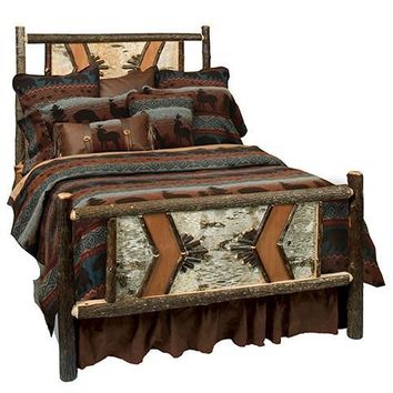 Hickory Adirondack Traditional Bed - California King