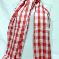 Fuchsia and White Men's and Women's Scarf - Fuchsia and White Scarf - Fuchsia and White Soft Cotton Scarf - KR1411048