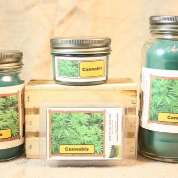 Cannabis Flower Scent Candles and Wax Melts, Flower Scent Candle Wax, Highly Scented Candles and Wax Tarts, Unique Scent