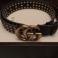 Gucci Studded Belt Womens AUTHENTIC