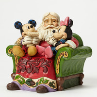 "Santa with Mickey & Minnie ""Christmas Wishes""-Jim Shore"