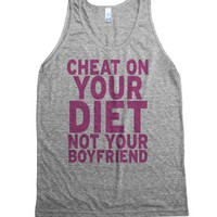 cheater-Unisex Athletic Grey Tank