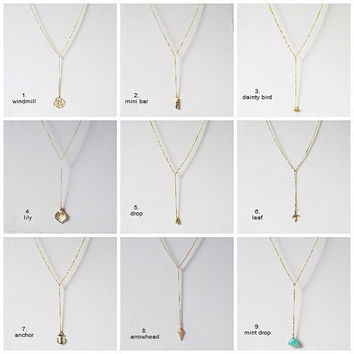 custom y necklace gold y shaped necklace custom made to the length of your choice minimal delicate neckace custom made