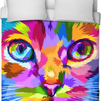 ROB Cat Face Duvet Cover