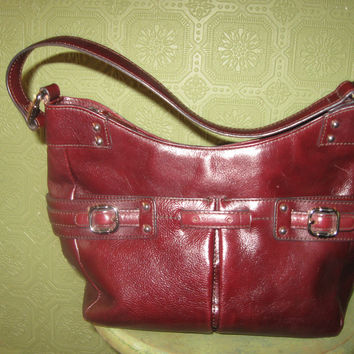 Vintage Etienne Aigner Cognac Genuine Leather Handbag