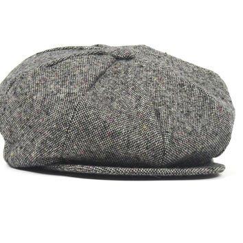 Gray Wool Tweed Fleck Newsboy Hat Monkey Suits