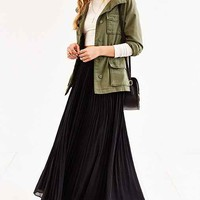 Pins And Needles Gauzy Pleated Maxi Skirt-