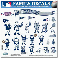 New York Yankees MLB Family Car Decal Set (Large)