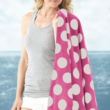 Carmel Towel Company - Polka Dot Velour Beach Towel - 3060P