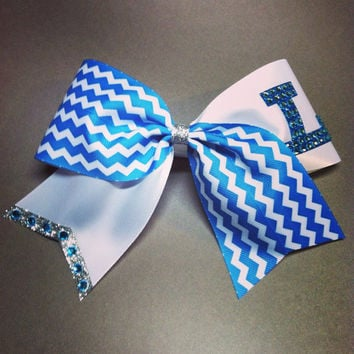 3 inch cheerleader cheer bow initial letter