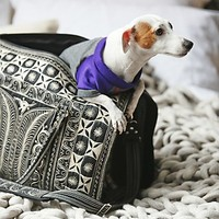 Banda Bags for Free People Womens Yala Embroidered Pet Carrier