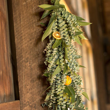 Organic Orange Eucalyptus Garland