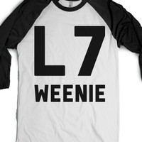 L7 weenie-Unisex White/Black T-Shirt