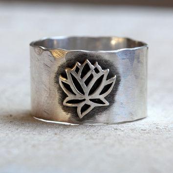 Yoga jewelry lotus ring