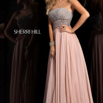 strapless Long Dress by Sherri Hill