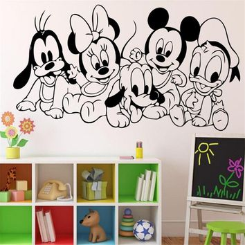 Cartoon Baby Mickey Mouse Vinyl Sticker Wall Art Decor Children's Kids Room Ideas Room Kids Room Wall Sticker U572