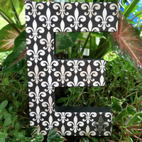 Handmade Stand Alone Decorated Paper Mache' Monogram Letter