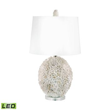 505-LED Hand Applied Natural Shells LED Table Lamp