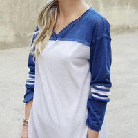 The Fenley Tee in Blue