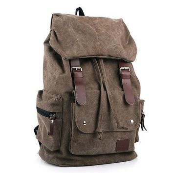 Supreme Canvas Rucksack School Bags Bookbags Sac Shoulder Travel Bag