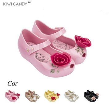 Beauty Beast mini kids Shoes boys girls Jelly Sandals high quality Princess 1-6Y non-slip Teacup Sandals