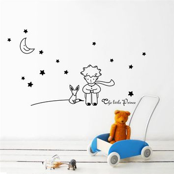 2016 New Stars Moon The Little Prince Boy Wall Sticker Home Decor Wall Decals for Kids Child baby room decor