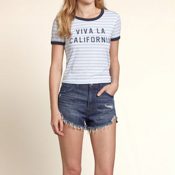 Viva La Cali Cropped Graphic Tee