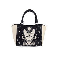 Bastet Sphynx Cat Occult Goth Satchel Handbag