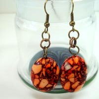 Jewelry, Earrings, Beautiful Stone Earrings, Chainmaille, READY to SHIP, Boro Ballers, Princess Tunacorn