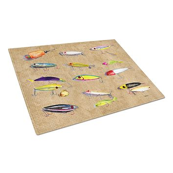 Fishing Lures Glass Cutting Board Large