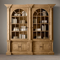 Palladian Salvaged Pine Double Library Bookcase
